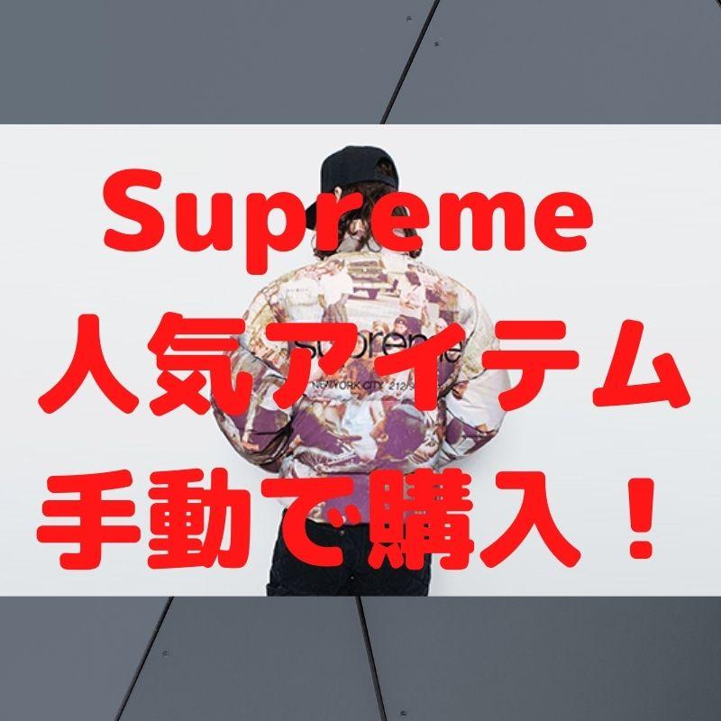 Supreme 人気アイテム 手動で購入!
